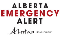 Click here to learn about Alberta Emergency Alerts. Alerts are issued to assist you, providing you with critical information about an immediate disaster.