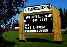 The Cremona School is part of the Chinook's Edge School Division and includes Grades ECS through 12.