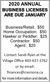 Click here to contact Sandi Ryan at the Village Office concerning your Business License.