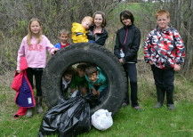 The local 4-H club holds a litter clean up along Highway 22 each year.