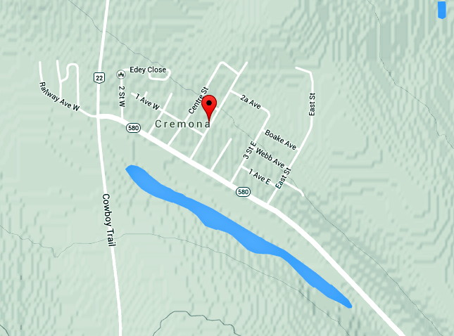 Village of Cremona Alberta | Location | Maps to Cremona